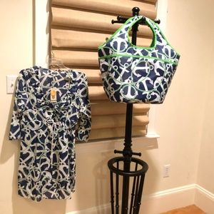 Mud Pie Tunic Cover up with matching Tote